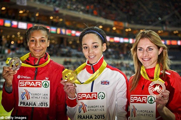 Katarina Johnson-Thompson broke Jessica Ennis' British record and wins pentathlon gold at 2015 European Indoor Championships in Prague