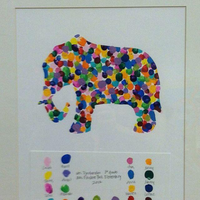Kid art auction idea