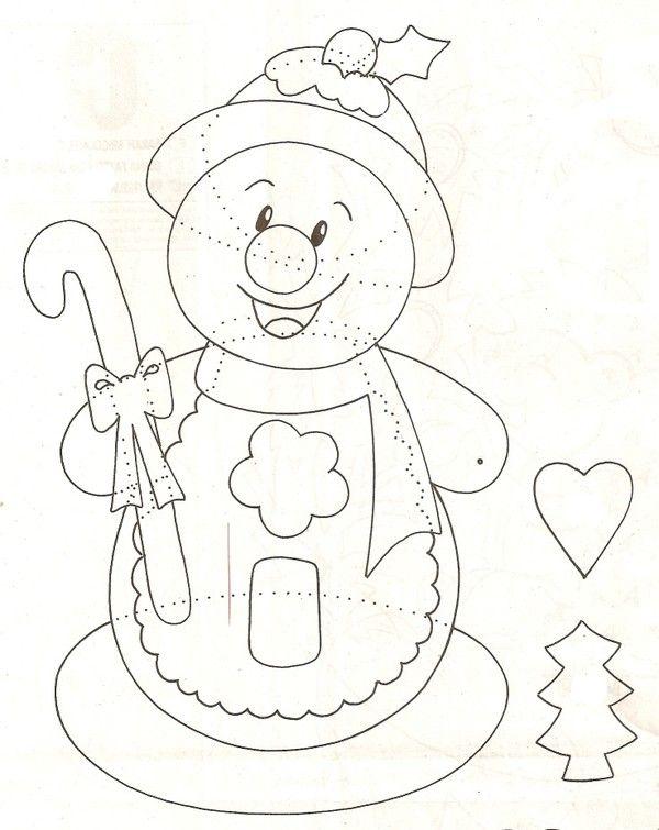 Gabarit - Bonhomme de neige à croquer