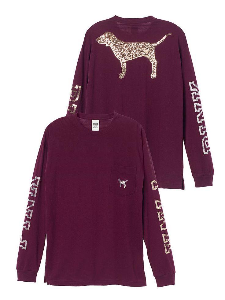 Long Sleeve Campus Tee - PINK - Victoria's Secret