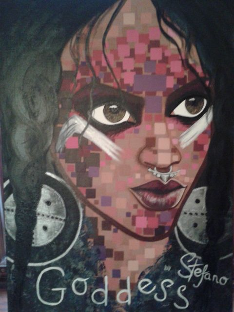 acrylic painting on canvas(50x70) W magazin acrylic,painting,portrait,diva,rihanna,woman,fashion,cover girl,fashion art,fineart,art,singer art fineart,painter,artist,paint,moderpainting
