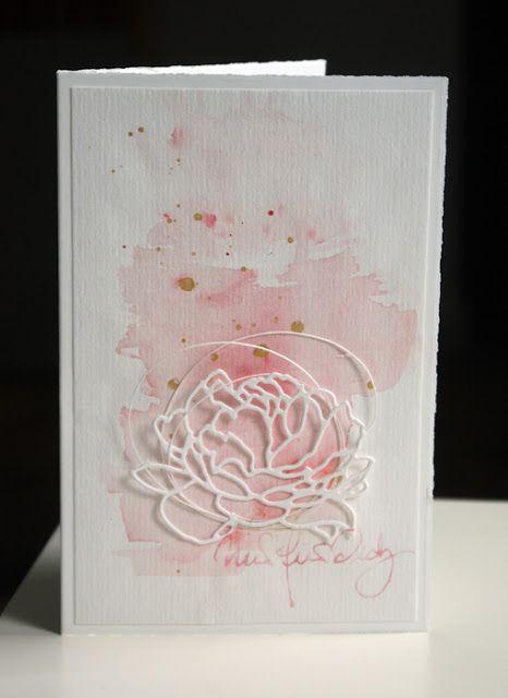 Mai 15 - Blütenstempel: Aquarell