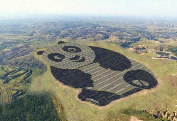Unik, Pembangkit Listrik Tenaga Surya Ini Berbentuk Panda