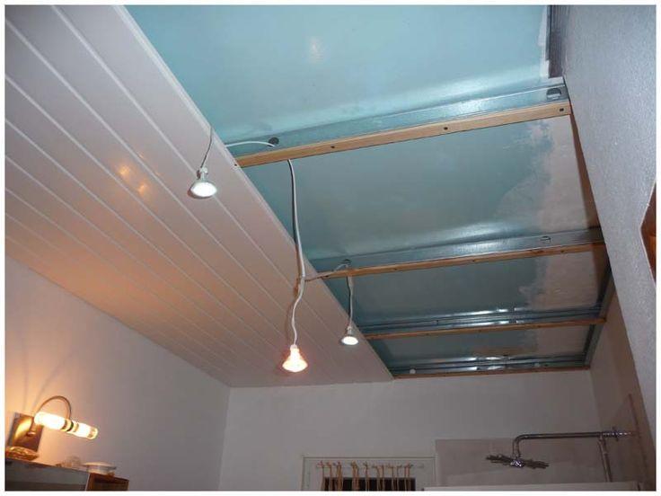 Les 25 meilleures id es de la cat gorie lambris pvc sur for Type de faux plafond