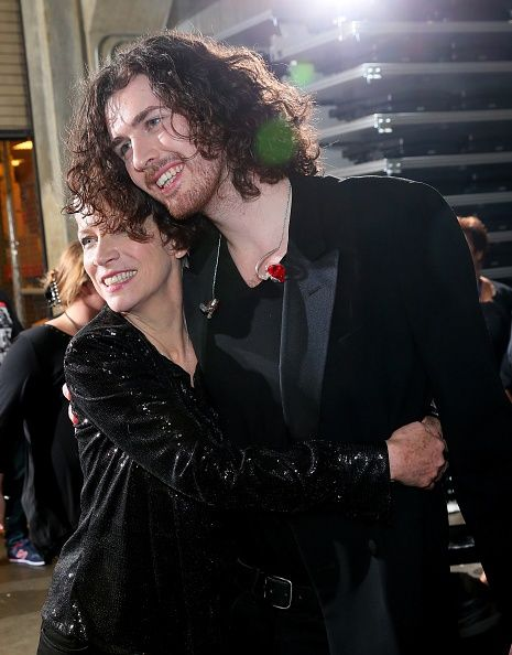 57th GRAMMYs Backstage - Annie Lennox And Hozier - Annie Lennox And Hozier backstage at the 57th Annual GRAMMY Awards on Feb. 8 in Los Angeles