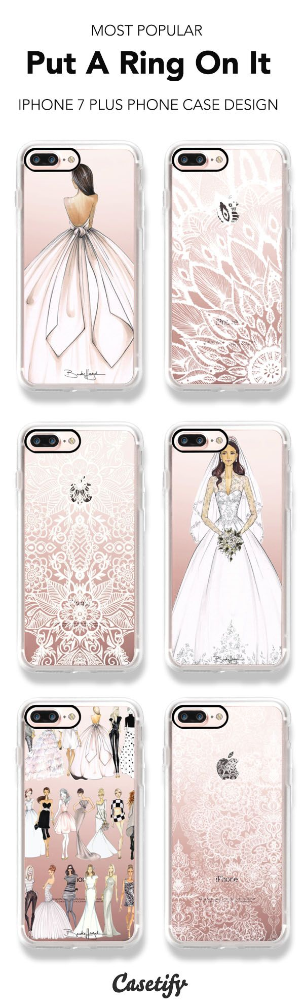 Most Popular Bridal iPhone 7 and iPhone 7 Plus cases. Shop them all here >   https://www.casetify.com/artworks/5QyP92tWGm