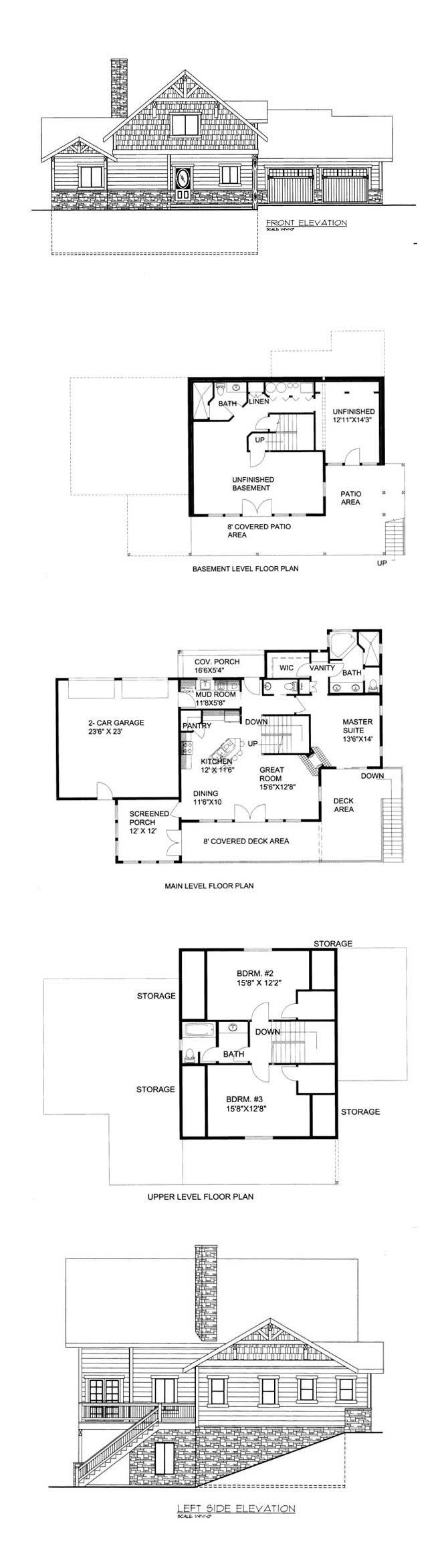 50 best Hillside Home Plans images – Hillside Home Floor Plans