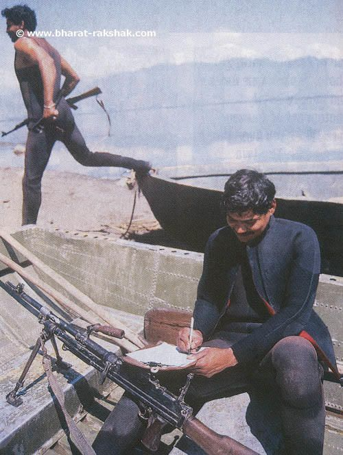 Marine Commando R V Kachre, from the Navy's elite Marine Commando Force, spends his time-off by writing a letter to his newly-wed wife. The MCF is used for the patrolling of Wullar Lake, which is used as a supply route by Pakistan's ISI for illegal weapons and other equipment to be used by militants in Kashmir and other areas.