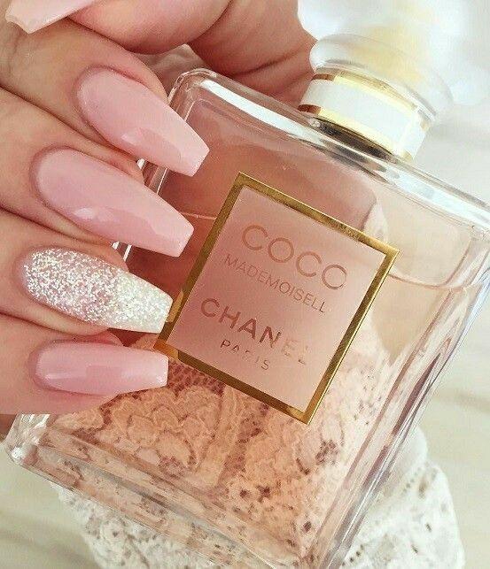 Ballerina Nails. Pink and White Nails. Acrylic Nails. Gel Nails.