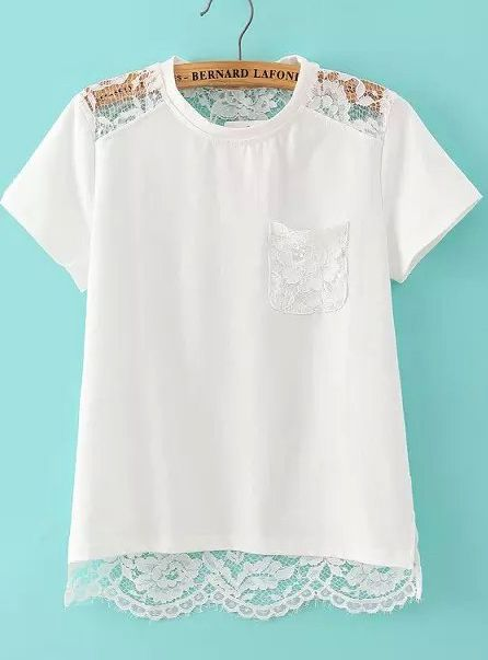 Shop White Short Sleeve Hollow Lace T-Shirt online. SheIn offers White Short Sleeve Hollow Lace T-Shirt & more to fit your fashionable needs.