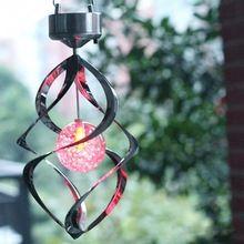Batería recargable de Color Cambiantes Hilandero Del Viento Carillones De Viento Al Aire Libre Jardín Patio Solar Powered LED Wind Chime(China (Mainland))