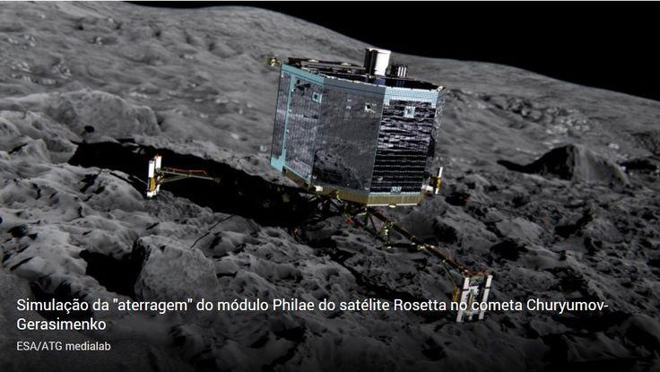 """Chuva de estrelas ofuscada pela """"aterragem"""" do satélite no cometa"""