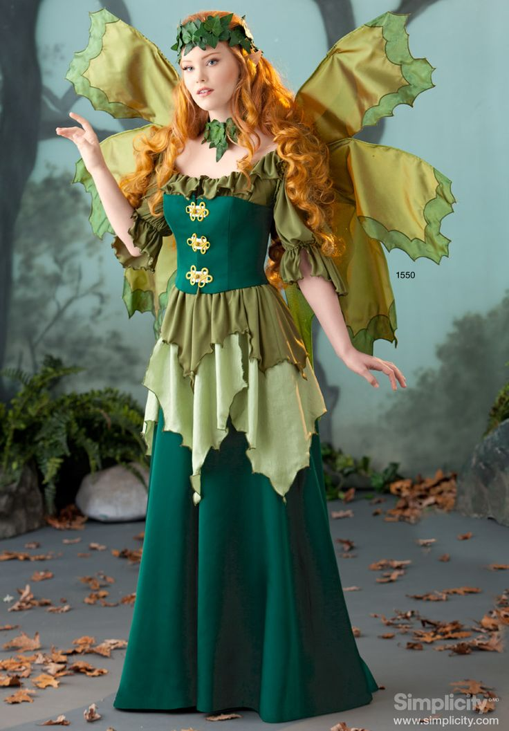 Artist, #AmyBrown - Green Fairy Costume. Perfect for #Halloween this year! #SimplicityPatterns