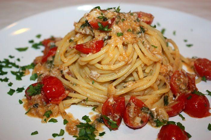Spaghetti al sugo cremoso di spannocchie
