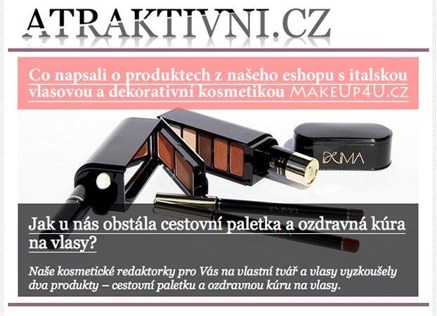 Redakční test ATRAKTIVNI.cz naší kosmetiky... http://www.atraktivni.cz/clanek/jak-u-nas-obstala-cestovni-paletka-a-ozdravna-kura-na-vlasy