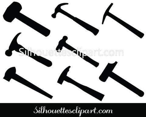 Hammer Silhouette Clip Art pack