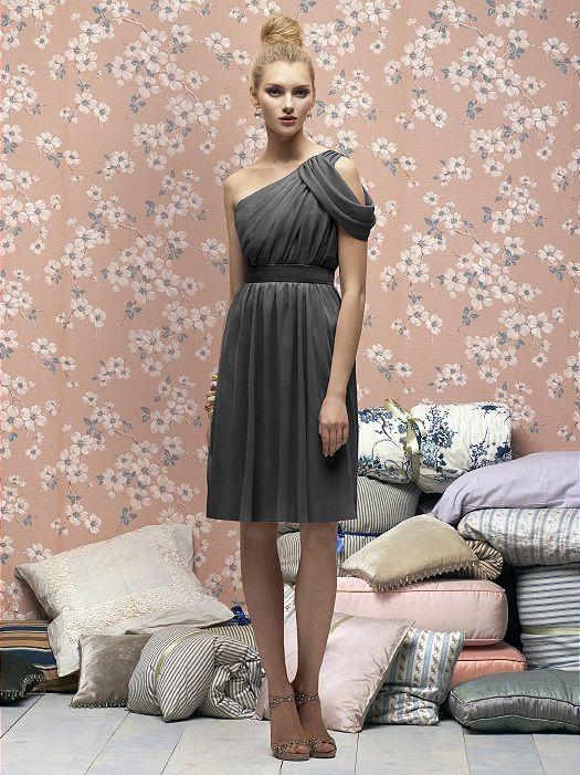 Lela Rose Love The One Shoulder Twist On This Purple Bridesmaid Dress