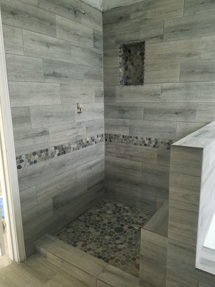 Shower Floor Tiles Which Why And How: 563 Best Bathroom Pebble Tile And Stone Tile Ideas Images