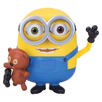 Despicable Me Talking Minion Toy - Bob with Teddy Bear Tim