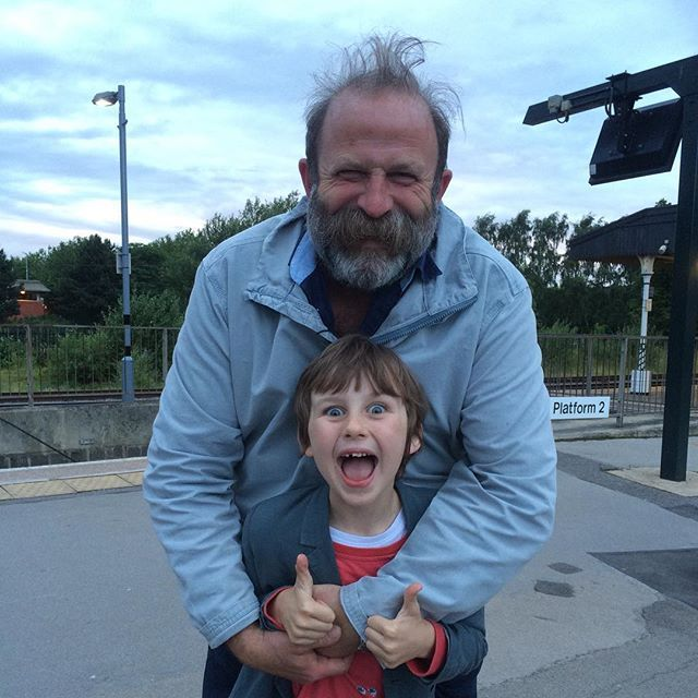 Our new hero Dick Strawbridge after watching the filming of #trainspottinglive #whatevernext