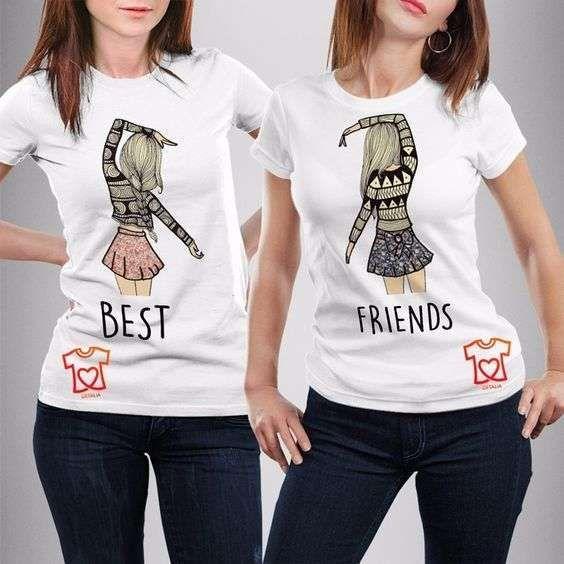 Camisetas para mejores amigas: Ideas originales - BFF t-SHIRT