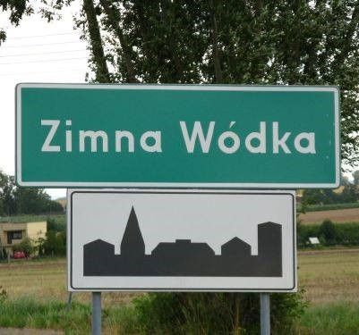 City in Poland called COLD VODKA