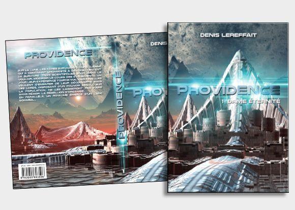Le client nous ayant fourni l'image de fond, nous avons  ici surtout fait un travail autour de la texture métallique du titre afin de rendre un aspect futuriste pour ce livre de science-fiction, y ajoutant des halos lumieux. #coverbook