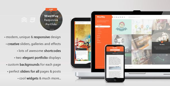 An incredible, interactive WP theme, it comes with a responsive grid and a dynamic left menu panel with beautiful transitions. It also has a fancy hover effect that will surely make your website looks professional and creative.