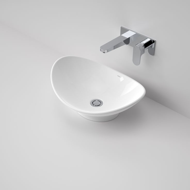 Caroma Cupid 500 Above Counter Basin  Introducing the new Cupid Collection from Caroma. This beautiful basin & bath range offers an understated elegance, it's curved vessel design provides a sculptural element to your bathroom.