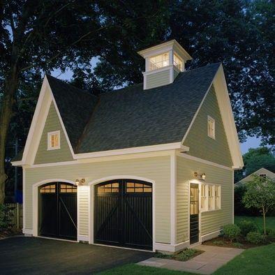 Beautiful detached garage. So welcoming!