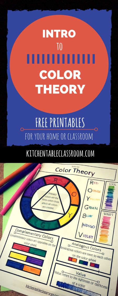 Color is a language even the smallest people understand. This free printable color wheel is a great place to introduce basic color theory and vocabulary!