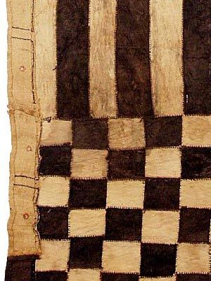 Kuba barkcloth detail