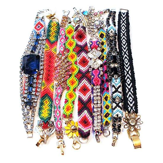 I remember making friendship bracelets in Girl Scouts...although mine never looked quite like these...