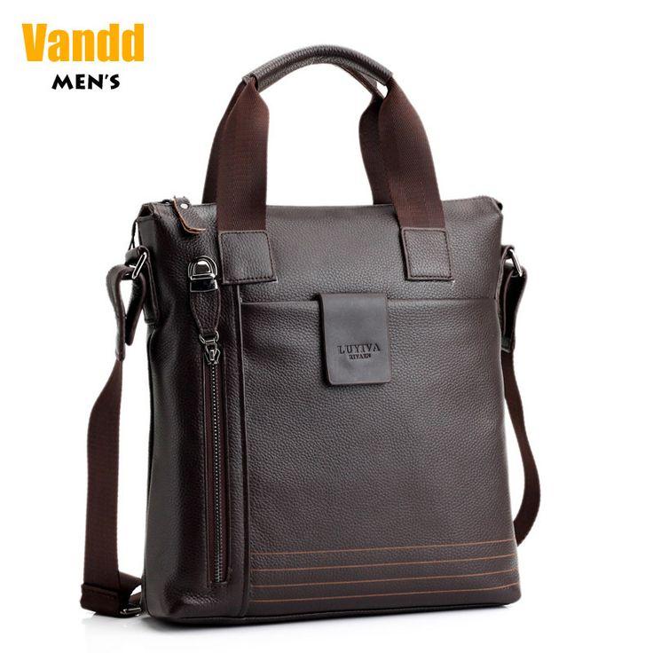 Aliexpress.com : Buy Vandd Men's Genuine Cowhide Leather Brown Zipper Vertical Tote Handbag Casual Shoulder Messenger Bag New from Reliable backpack travel package suppliers on Vandd Men. $75.00