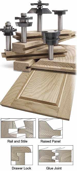 MLCS 5 piece shaker cabinetmaker router bit sets SAVE $85! FREE Rail and Stile Set-Up Block.