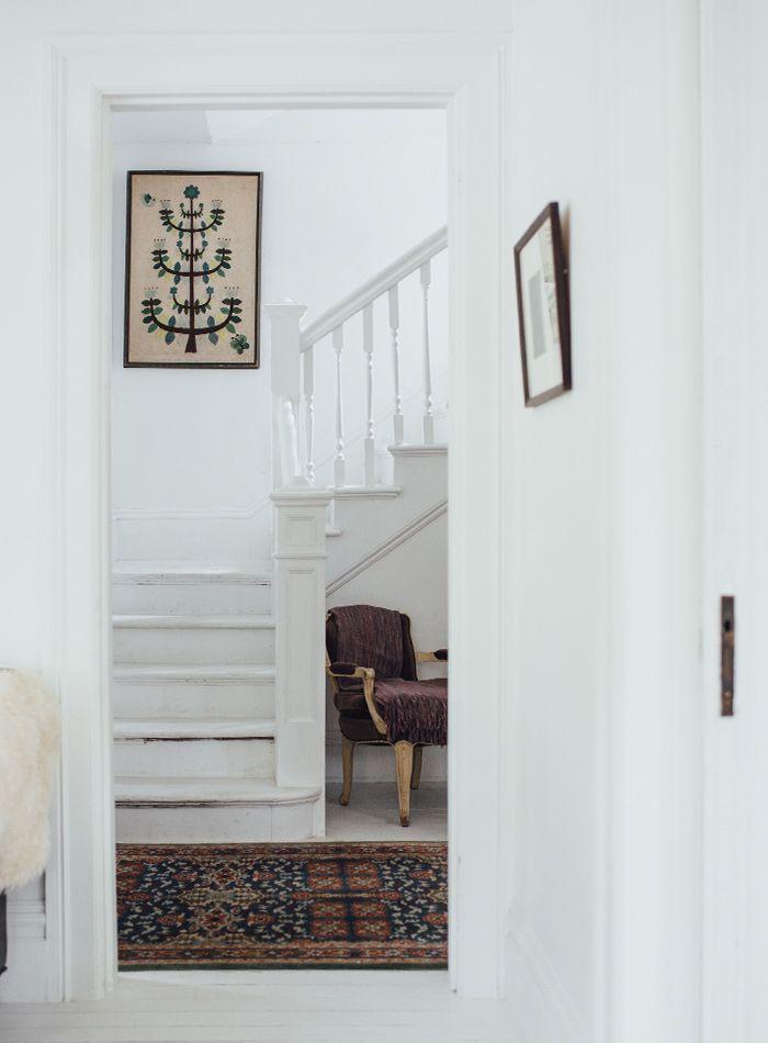 white + rich patterns in a Victorian farmhouse in Portland | Design*Sponge
