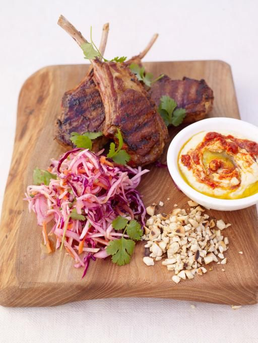 grilled Moroccan lamb chops -- Jamie Oliver (I don't know how Moroccan this is, but it looks yummy!)