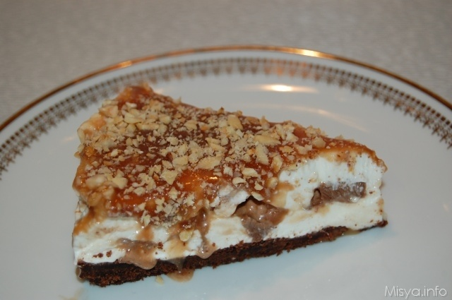 Mars Cheesecake (o Snickers) - fetta
