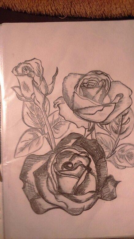 Růže  stínování