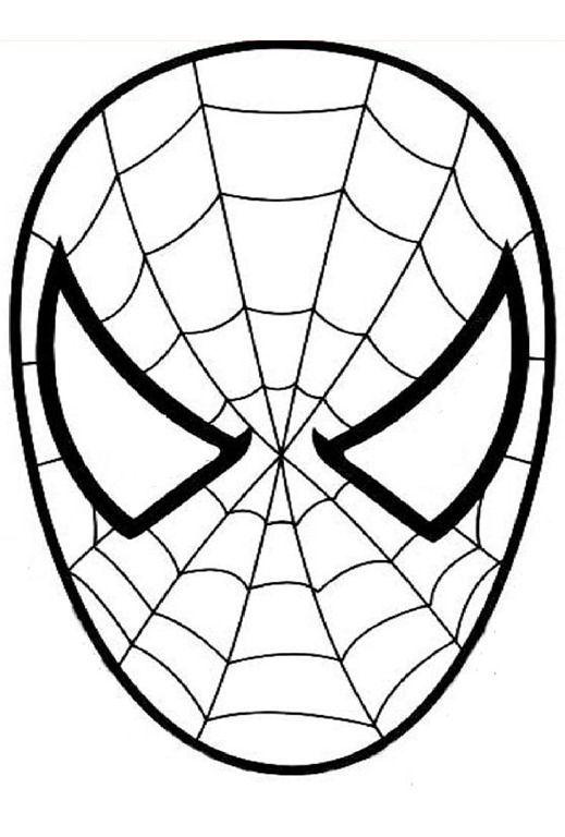 masque spiderman a colorier