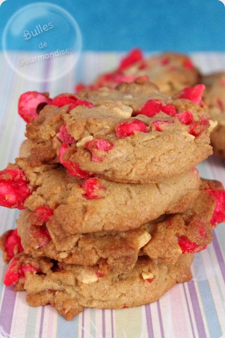 Pink Praline Cookies recipe / Cookies aux pralines roses... un petit peu de douceur pour se réchauffer !!!