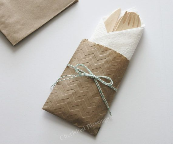 Table Settings Wedding 10 Flatware Bags di CherishedBlessings, $13.99