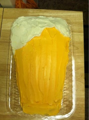Krafty Kady made George a beer birthday cake!