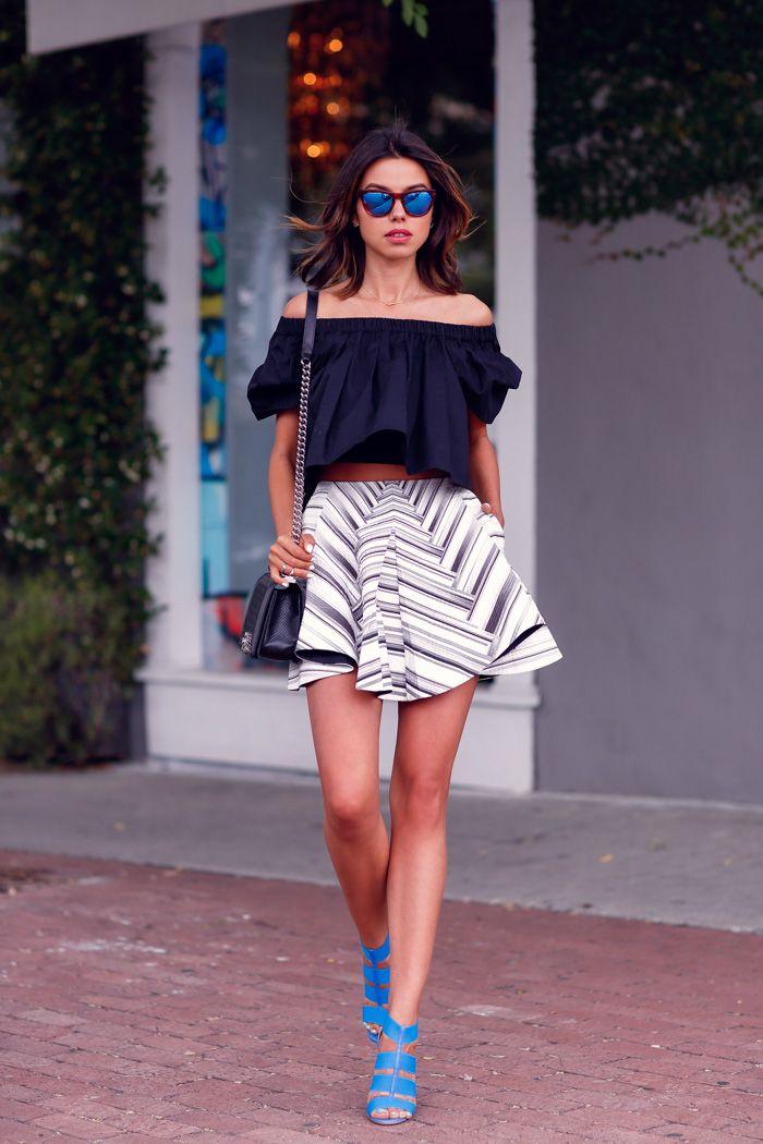 PETER PILOTTO MK printed textured cotton blend skirt