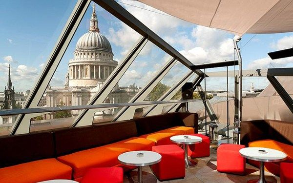 Madison, London  Combine stunning views of the London skyline with sweeping plate glass and bright, funky furniture, and you get Madison...