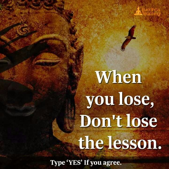 Don't lose the lesson.