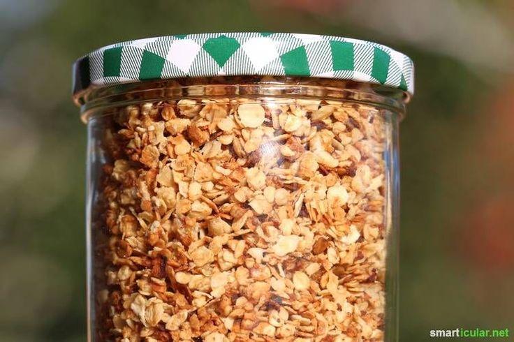 Lecker und gesund! Dieses selbstgemachte Crunchy-Müsli ist einfach, preiswert und schmeckt fantastisch!