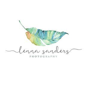 Tropical Leave Logo, Tropical leave Calligraphy Logo, Photography Logo, Small Business Logotype, Photographer watermark n042