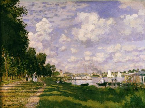 The lake at Argenteuil, c. 1872 by Claude Monet - art print from King & McGaw