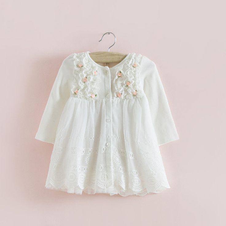 2017 sıcak satış fikir sonbahar pamuk çocuk giysileri yeni doğan kız indant dress bebek giyim bebek kız dress vestido infantil